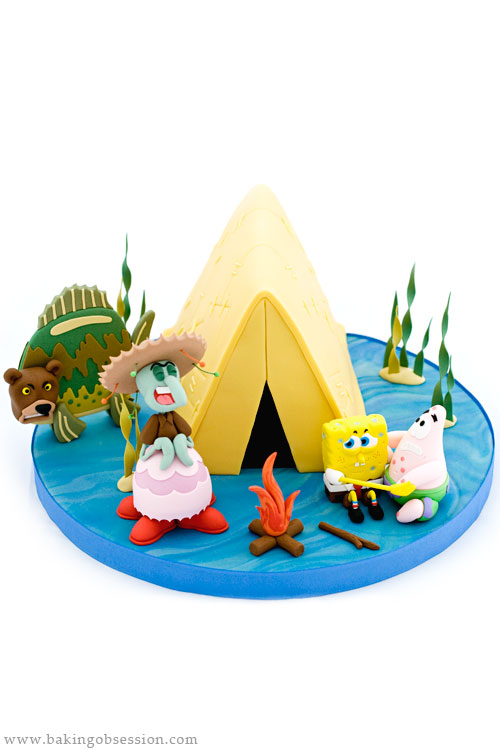 Spongebob Cake Camping Episode Sea Bear Attack Baking Obsession No no, i'm talking about a video based off of said episode which i'd argue is far superior than the original edition. baking obsession