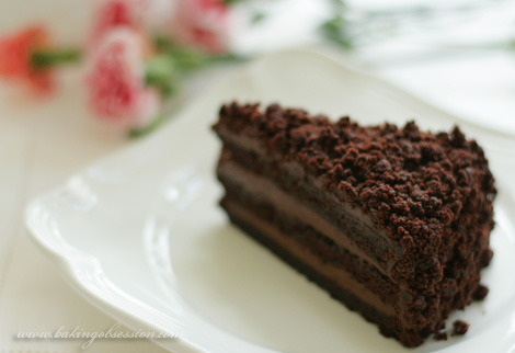 Chocolate Blackout Cake Slice