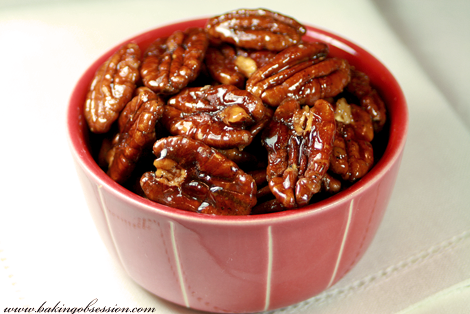 Sweet and Spicy Caramelized Pecans