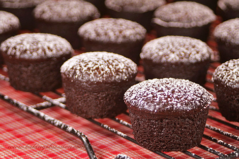 Very Chocolate Mini Cupcakes