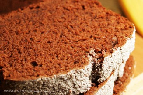 Chocolate and Grand Marnier Banana Cake Slice