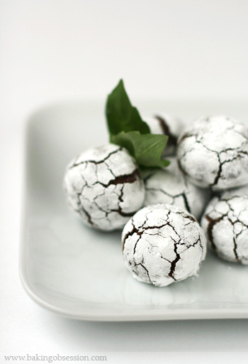 Chocolate Basil Crinkles