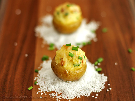 Tiny Twice-Baked Potatoes
