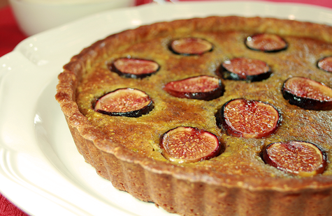 Fresh Fig and Pistachio Frangipane Tart