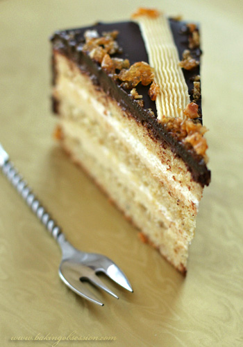 Hazelnut Gateau with Praliné Buttercream and Fleur de Sel Brittle