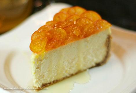 Orange Cheesecake with Candied Kumquats (Slice)