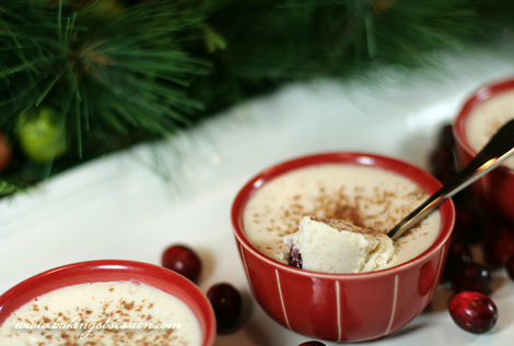 Cranberry-Mascarpone Pots De Crème Inside