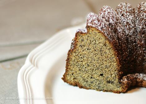 Poppy Seed Honey Cake Slice