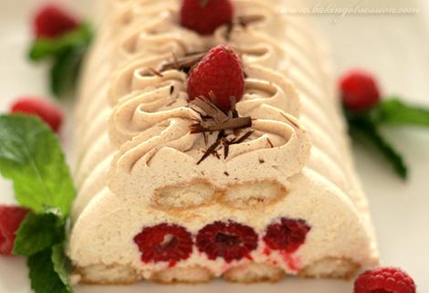 Raspberry Tiramisu with Cinnamon Cream
