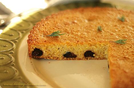 Polenta and Ricotta Honey Rosemary Cake