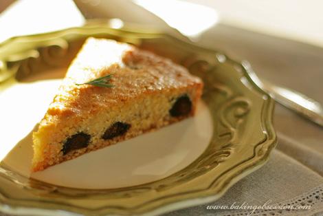 Polenta and Ricotta Honey Rosemary Cake Slice