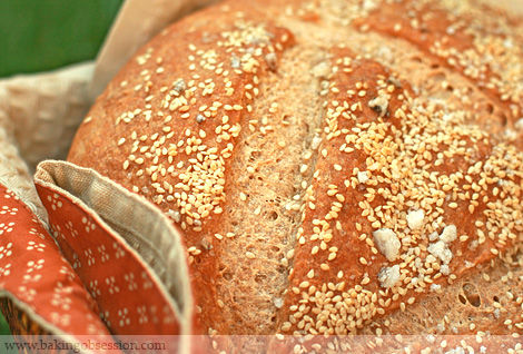 Semolina and Sesame Bread