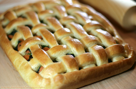 Spinach, Onions, and Yams Pie